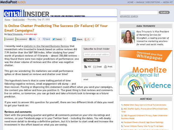 Is Online Chatter Predicting The Success (Or Failure) Of Your Email Campaigns?