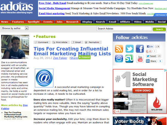 Tips For Creating Influential Email Marketing Mailing Lists