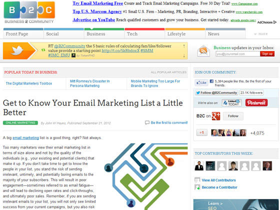 Get to Know Your Email Marketing List a Little Better