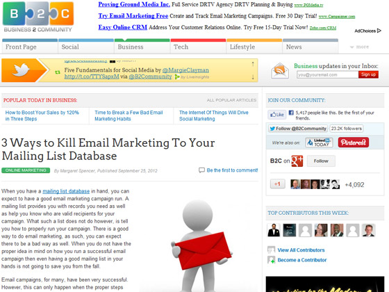 3 Ways to Kill Email Marketing To Your Mailing List Database