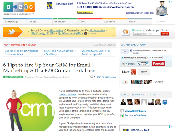 6 Tips to Fire Up Your CRM for Email Marketing with a B2B Contact Database