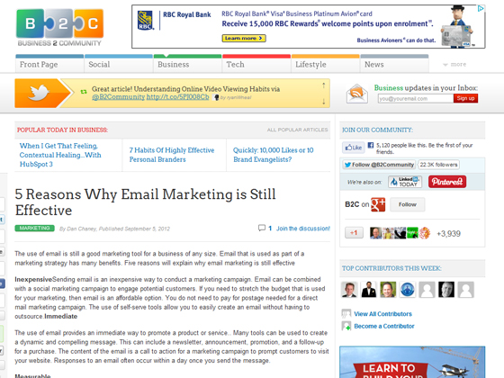 5 Reasons Why Email Marketing is Still Effective