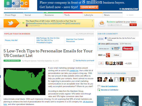 5 Low-Tech Tips to Personalize Emails for Your US Contact List