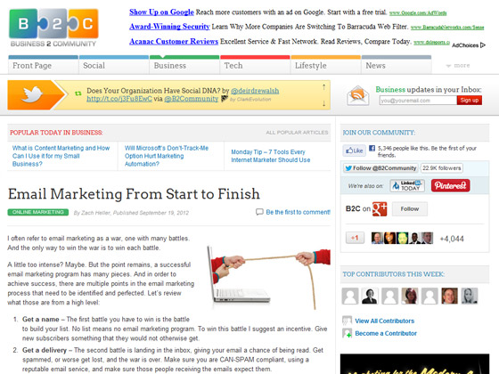 Email Marketing From Start to Finish