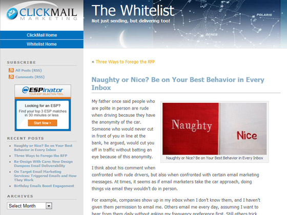 Naughty or Nice? Be on Your Best Behavior in Every Inbox