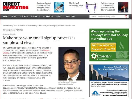 Make sure your email signup process is simple and clear
