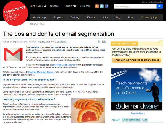The dos and don'ts of email segmentation