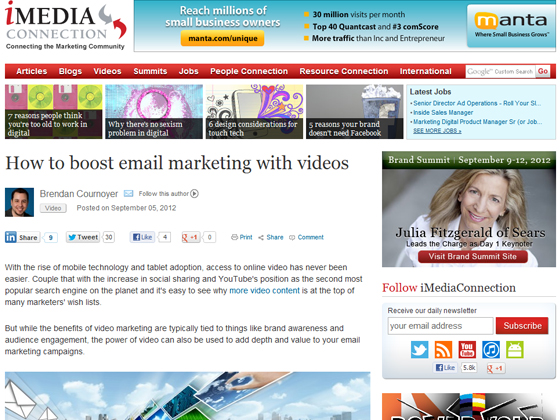 How to boost email marketing with videos