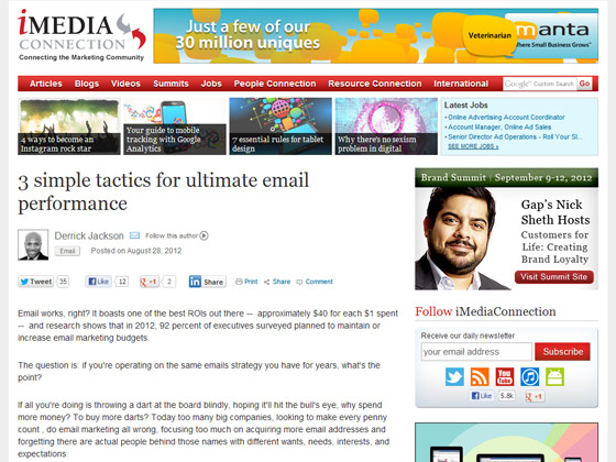 3 simple tactics for ultimate email performance