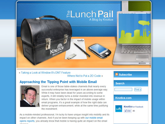 Approaching the Tipping Point with Mobile Email