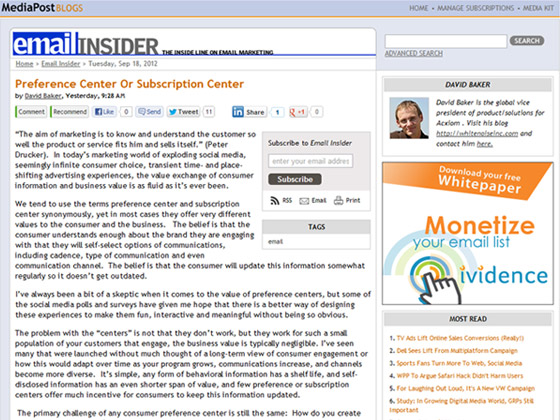 Preference Center Or Subscription Center