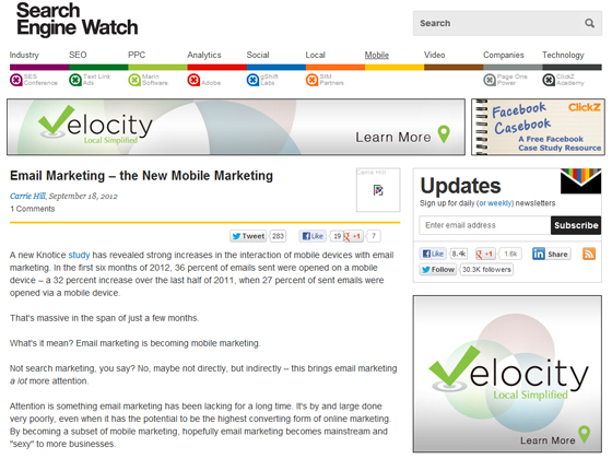 Email Marketing – the New Mobile Marketing