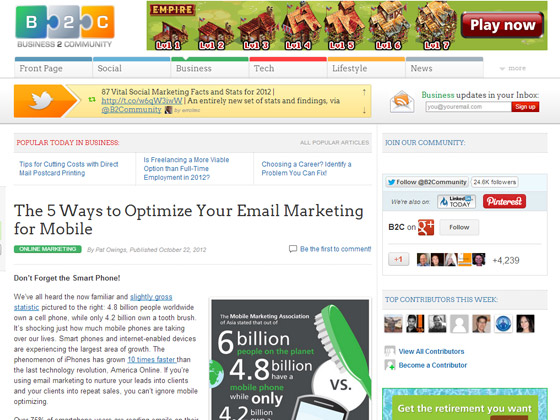 The 5 Ways to Optimize Your Email Marketing for Mobile