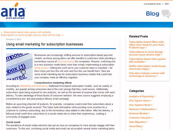 Using email marketing for subscription businesses