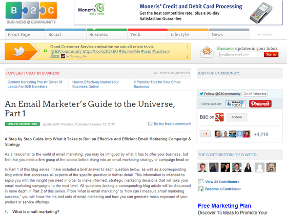 An Email Marketer's Guide to the Universe, Part 1