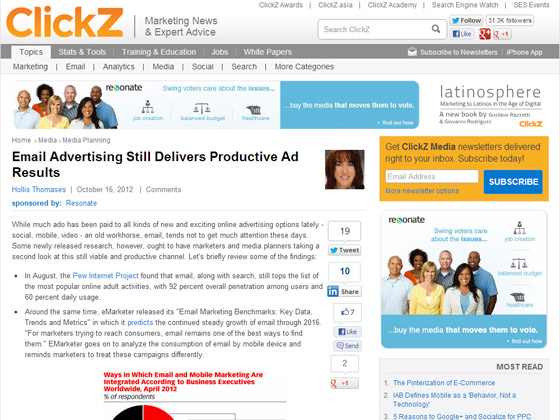 Email Advertising Still Delivers Productive Ad Results
