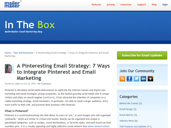A Pinteresting Email Strategy: 7 Ways to Integrate Pinterest and Email Marketing