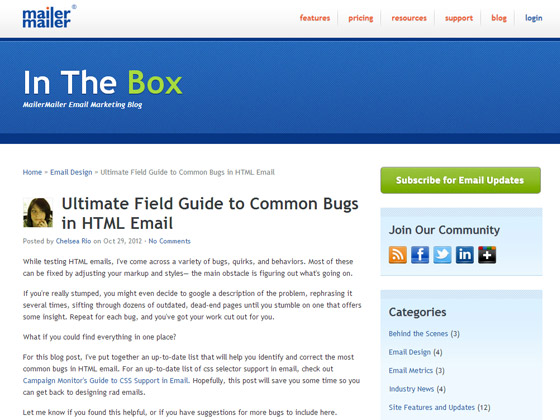 Ultimate Field Guide to Common Bugs in HTML Email