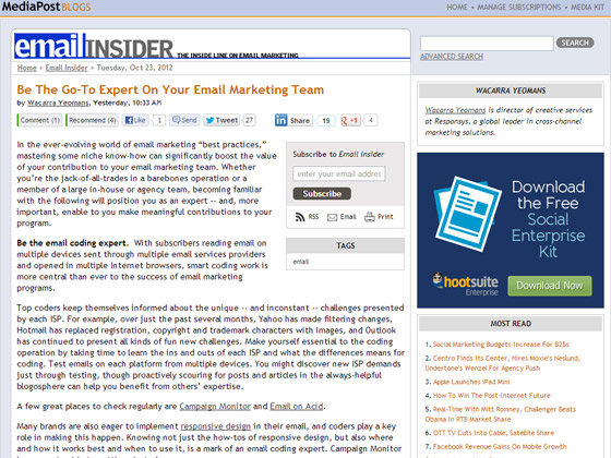 Be The Go-To Expert On Your Email Marketing Team