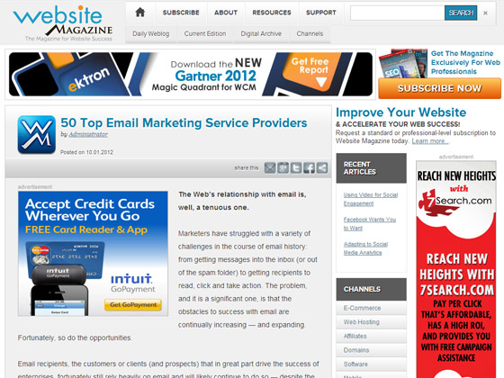 50 Top Email Marketing Service Providers