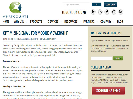 WhatCounts - Optimizing email for mobile viewership