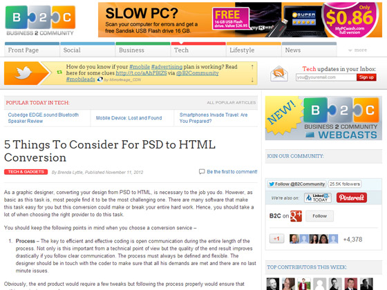 5 Things To Consider For PSD to HTML Conversion
