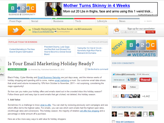 Is Your Email Marketing Holiday Ready?