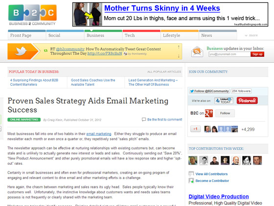 Proven Sales Strategy Aids Email Marketing Success