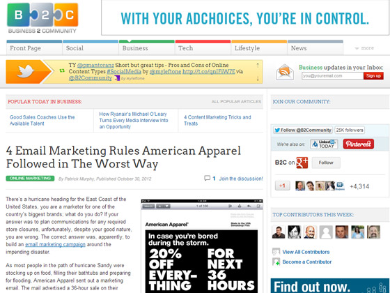 4 Email Marketing Rules American Apparel Followed in The Worst Way