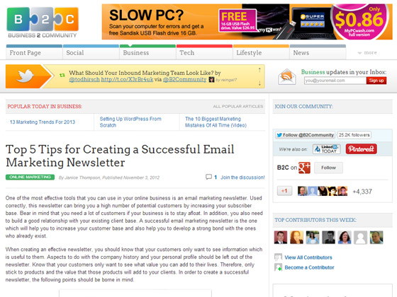 Top 5 Tips for Creating a Successful Email Marketing Newsletter