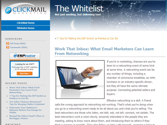 Work That Inbox: What Email Marketers Can Learn From Networking
