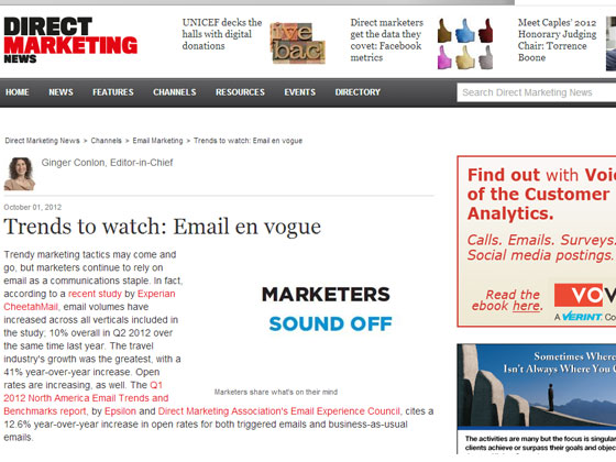 Trends to watch: Email en vogue