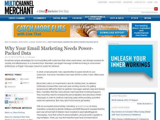 Why Your Email Marketing Needs Power-Packed Data