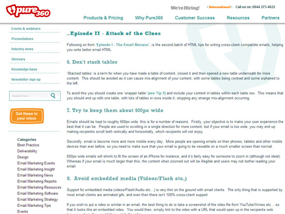 Top 10 HTML tips for email - part 2