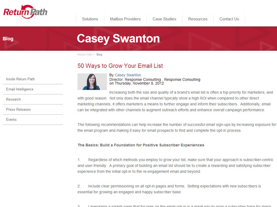 50 Ways to Grow Your Email List