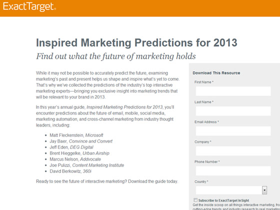 Inspired Marketing Predictions for 2013