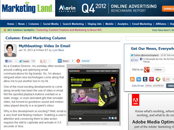 Mythbusting: Video In Email