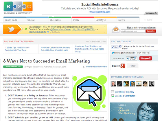 6 Ways Not to Succeed at Email Marketing