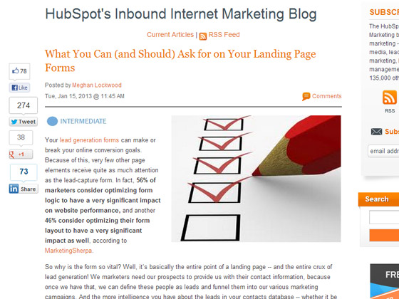 HubSpot - What You Can (and Should) Ask for on Your Landing Page Forms
