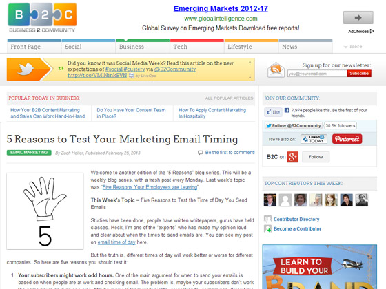 5 Reasons to Test Your Marketing Email Timing