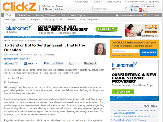 To Send or Not to Send an Email…That Is the Question