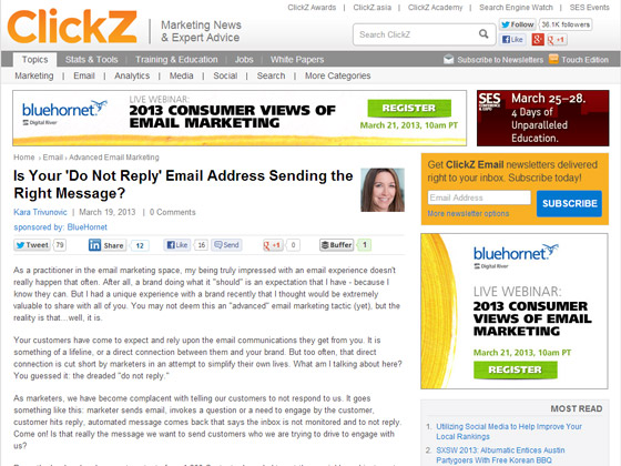 Is Your 'Do Not Reply' Email Address Sending the Right Message?