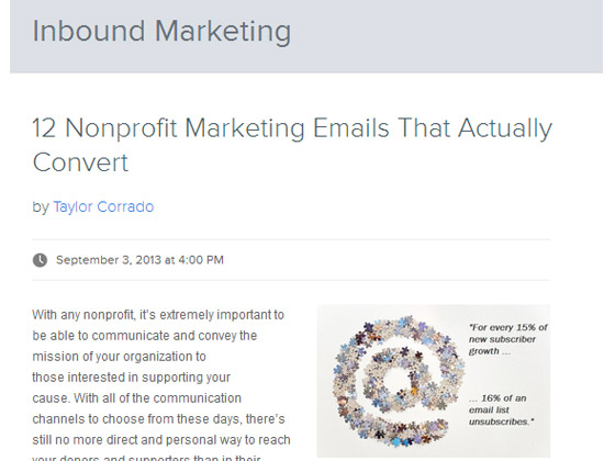 HubSpot – 12 Nonprofit Marketing Emails That Actually Convert