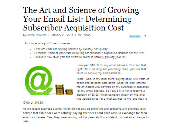 The Art and Science of Growing Your Email List: Determining Subscriber Acquisition Cost