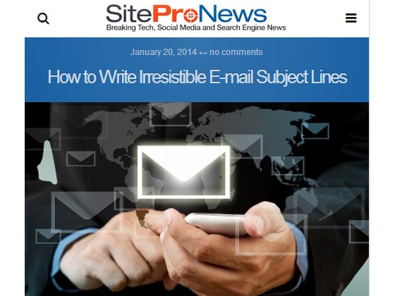 How to Write Irresistible E-mail Subject Lines