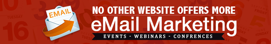 Check out our BIG list of email marketing events, webinars and conferences