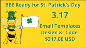Save on St. Patrick's Day Email Marketing Templates